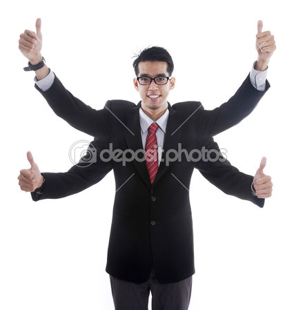 depositphotos_8300878-businessman-with-four-hands-showing