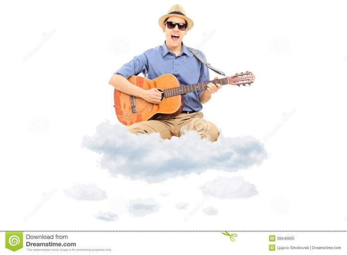 young-man-playing-acoustic-guitar-floating-clouds-isolated-white-background-36640605